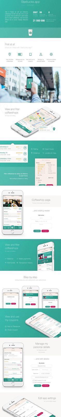 Starbucks iOS app by Alexandra False
