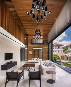 Modern Luxurious Townhouse Located in Singapore - #architecture, #house, #home, #interior, #homedecor,