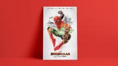Spider-Man – Far From Home - Alternate Movie Poster - The Commas #spiderman #alternativemovieposter #movieposter #filmposter #thecommas #keyart #marvelstudios #marvel #marvelcomics #comics #potserdesign #posters