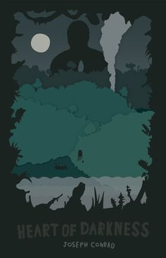 House of Illustration 2014 #heart #darkness #of #congo #horror #book #cover #night #illustration #river #forest #drawing #jungle #moon