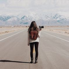 Likes | Tumblr #mountain #road #photography #girl