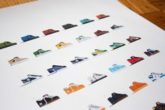 Skate Shoes of the 90s Print by Nathan Manire