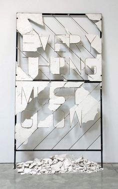 Nick van Woert #steel #sculpture #plaster #billboard #entropy