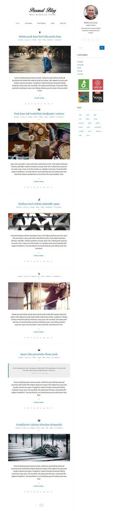 Personal Blog : Free Responsive Blogging WordPress Theme