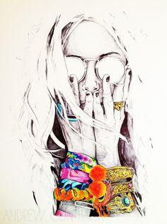 alisa burke: andy's art #drawing #art #portrait