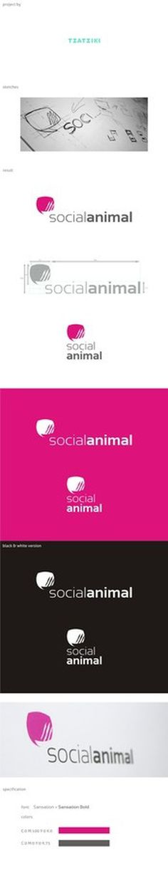 socialanimal | zoom | digart.pl #logo #marketing #animal #social