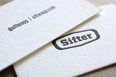 Sifter Letterpress #cards #business