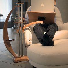Ergonomic Laptop Table By Lounge-Tek #gadget