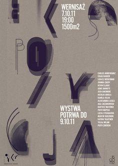 ekspozycja typo poster by aleksandra niepsuj #design