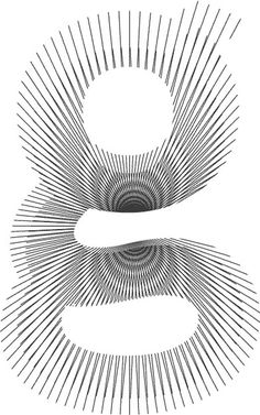 Moirétesk. Check on Behance for animation! #lines #effect #moire #letter #typeface #type