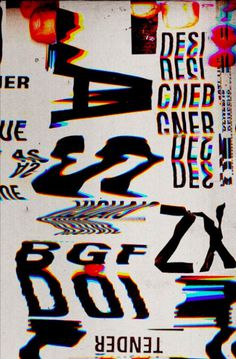 Marcos Faunner | PICDIT #design #type #typography #glitch #art