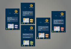 Northfields London Newsletters / Maps Collection on Behance