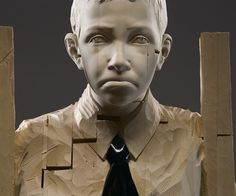 GEHARD DEMETZ #sculpture #raw #material #wood #art #broken #artist