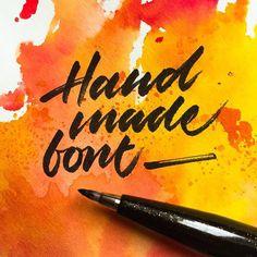 🖋 #handmadefont #handmadefontlogo @handmadefont - - - #typespire #lettering #calligraphy #handlettering #typetopia #artoftype #ligatureco