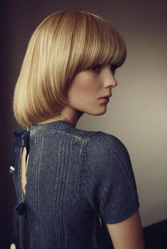 Fashion photography (Model: Clara Zapffe | Photographer: Dennis Stenild 'Stille Forårsdag' for Eurowoman, March 2011| via alamodel #fashion #hair