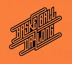 Basketball day long lettering. #lettering #orange #yerthekid #type #basketball
