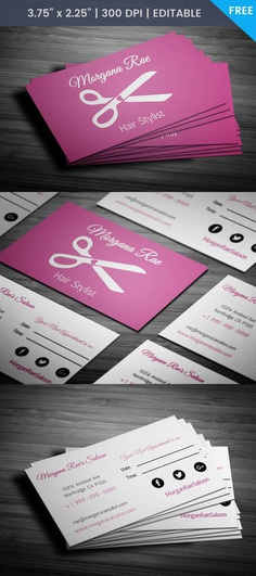 Free Women's Salon With Appointment Business Card Template