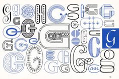 G, Embroidery Letterforms, Present and Correct