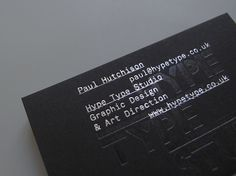 Hype Type Studio / Paul Hutchison — Graphic Design & Art Direction #foil #stationery