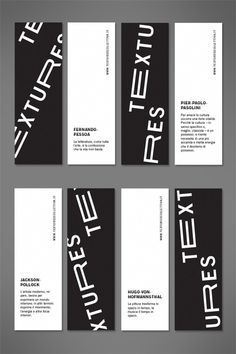 Textures 2013 #white #black #exhibition #minimal #art #layout #bookmarks #typography