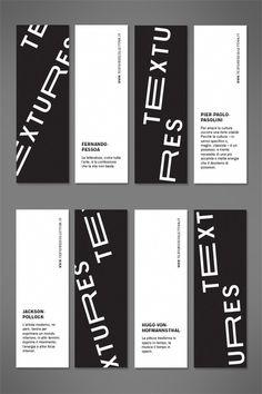 Textures 2013 #white #black #exhibition #minimal #art #layout #bookmarks #typography