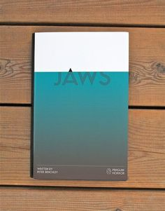 Jaws from the Penguin Horror book series by Tom Lenartowicz #typography #book cover #jaws