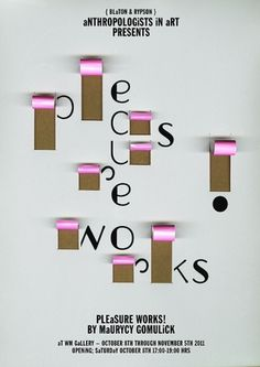 LESLEY MOORE - PRESENT {ANTHROPOLOGISTS_IN_ART_} #poster #typography