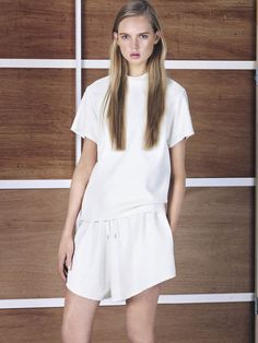 Bassike Resort 2014 #fashion #white #bassike