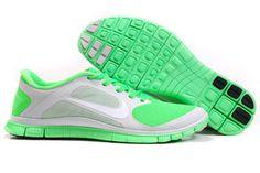 Nike Free 4.0 V3 Pure Platinum White Poison Green-Mens #shoes
