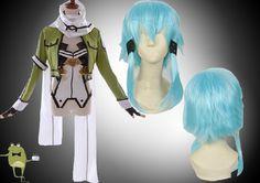 Sword Art Online Sinon Cosplay Costume + Wig #sinon #costume #cosplay