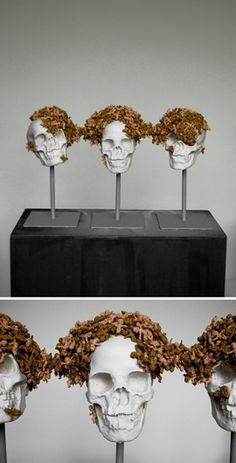 Massimiliano Pelletti #skull #sculpture #art