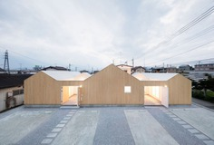 Terraced Houses in Numata is a minimalist home located in Gunma, Japan, designed by Toru kashihara Architects
