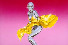 Hajime Sorayama @ Fifty24SF Gallery in San Francisco #gallery #air #hajime #erotic #fifty24sf #pin #up #art #brush #gynoids #sorayama