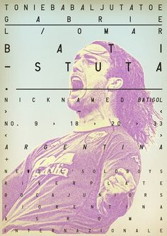 Sucker for Soccer on the Behance Network #dada #batistuta #soccer #vintage #poster #fubol