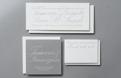 ROSEBROOK MEYER - irresistibly chic invitations #stationery #typography