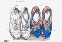 Creative Review - Toy's Favourite Sneakers #sparshott #illustration #drawn #david #toy
