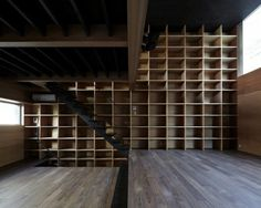 Rouge / APOLLO Architects & Associates | ArchDaily #bookcases #libraries #interiors #wood #architecture #stairs