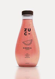 บรรจุภัณฑ์ขวดน้ำผลไม้น่ารักๆจาก Zuc by Miriam Vilaplana จาก Bunjupun.com #watermelon #package #bottle