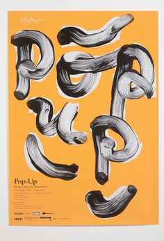 Pop Up Generation Poster and Catalog on Behance #art #typography