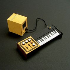 Analogue Miniature 3 #miniatures #synth #craft #art #paper