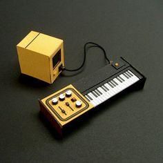 Analogue Miniature 3 #miniatures #synth #craft #art #paper