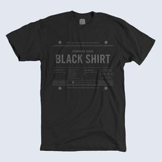 Black Shirt #typography #black #shirt #matt stevens #united pixel workers