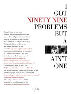 Poster #red #white #bodoni #black #jay #problems #and #99 #typography