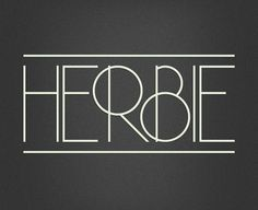 grain edit · Herbie #font #iveland #herbie #typeface #morten #typography
