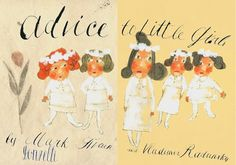 Slide Show: Mark Twain's 'Advice to Little Girls' by Vladimir Radunsky | NYRblog | The New York Review of Books #mark #vladimir #twain #book #publishing #illustration #radunsky #childrens