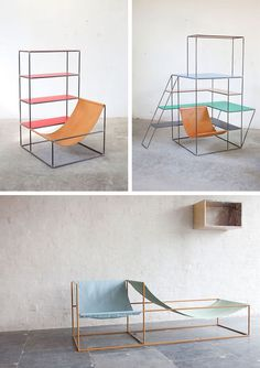 An Office #canvas #chair #metal #frame