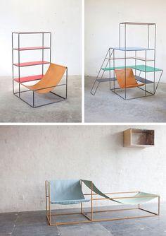 An Office #canvas #chair #metal #frame