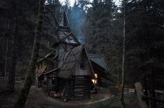 Magical cabin #cabin #woods #house