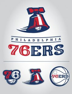 Rebranding & Expanding The NBA on the Behance Network #logo #phila #76rs #branding
