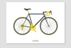 Road bike by Tim George #bikes #design #graphic #bicycles #illustration